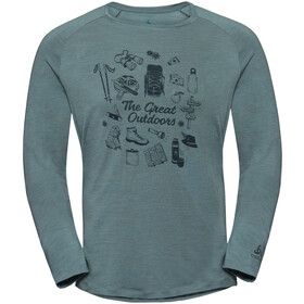 Odlo BL Concord Longsleeve Top Crew Neck Heren, arctic-great outdoors print ss19